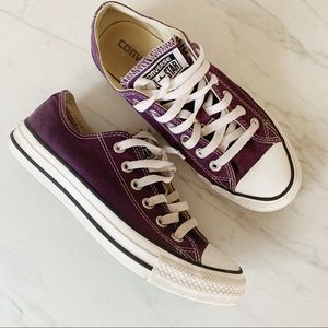 CONVERSE Orchid Purple Low Top Lace Up Sneakers